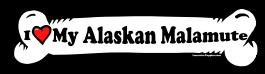 I love my Alaskan Malamute Dog Bone Sticker Free Shipping