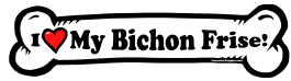 I love my Bichon Frise Dog Bone Sticker Free Shipping