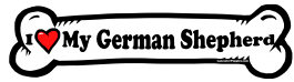 I love my German Shepherd Dog Bone Sticker Free Shipping