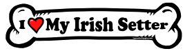 I love my Irish Setter Dog Bone Sticker Free Shipping