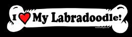 I love my Labradoodle Dog Bone Sticker Free Shipping