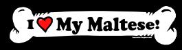 I love my Maltese Dog Bone Sticker Free Shipping