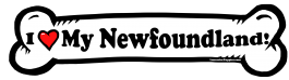 I love my Newfoundland Dog Bone Sticker Free Shipping
