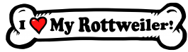 I love my Rottweiler Dog Bone Sticker Free Shipping