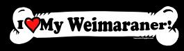 I love my Weimaraner Dog Bone Sticker Free Shipping