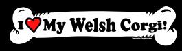 I love my Welsh Corgie Dog Bone Sticker Free Shipping