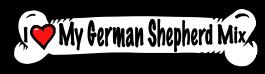 I love my German Shepherd Mix Dog Bone Sticker
