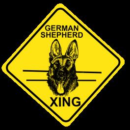 German Shepherd Crossing Sign Free Shipping